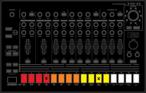 Programmed TR-8 Toms