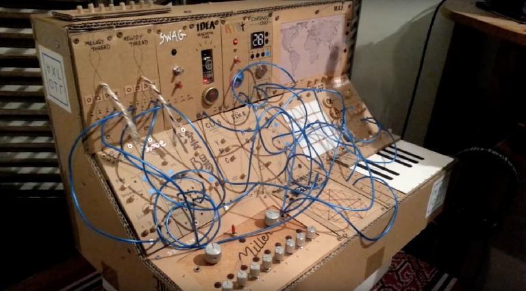 A closer look at the AXL OTL cardboard synth.