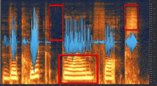'The quick brown fox' as shown in the waveform/spectrogram window.
