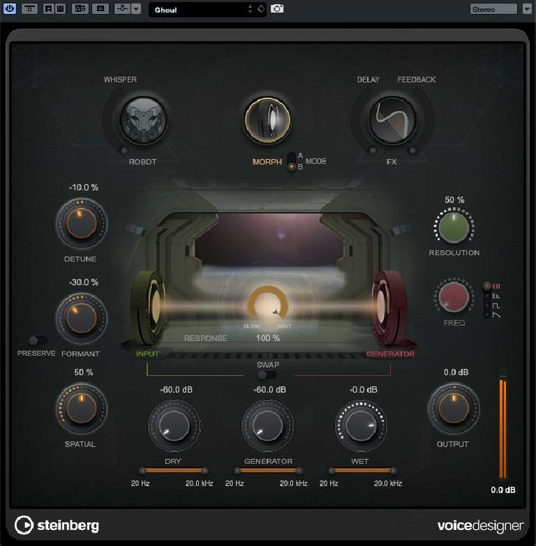 The VoiceDesigner plug-in panel