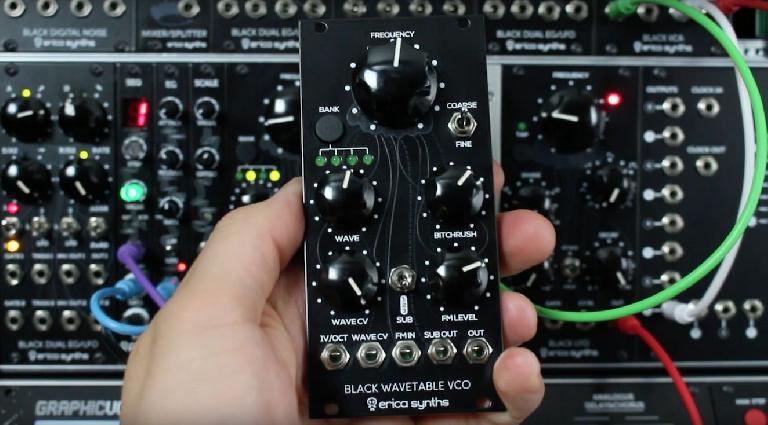 Erica Synths Black Wavetable VCO Eurorack synth module.