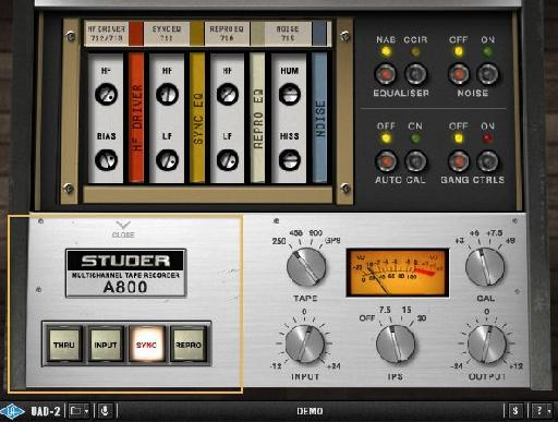 Click on the Studer badge to reveal the Sync controls.