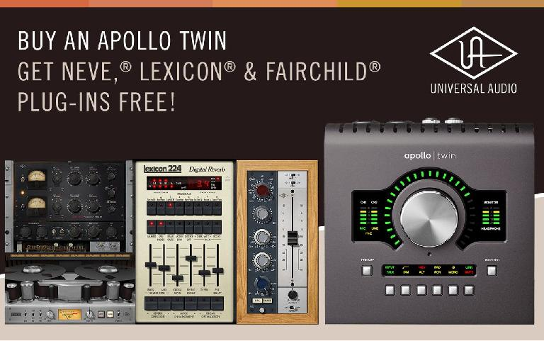 Universal Audio Announces Free UAD Plug-Ins from Neve, Lexicon, and Fairchild with Apollo Twin Purchase