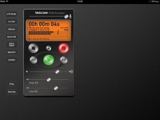 Recording with the PCM Recorder app