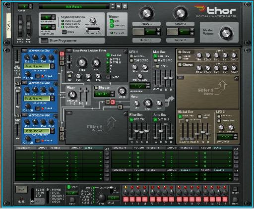 Loading three wavetable based oscillators