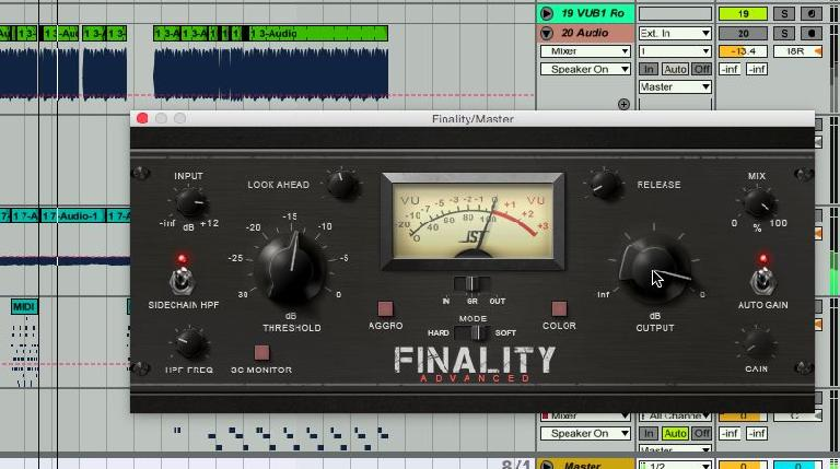 JST Finality Advanced in an Ableton project.