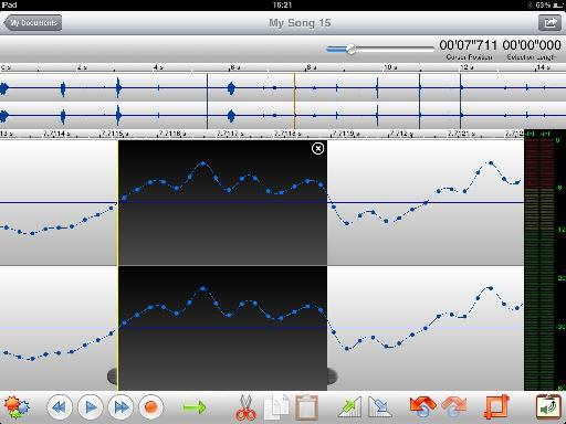 Audio editing at sample level