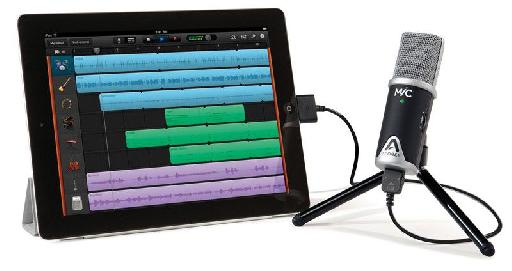 Apogee's MiC 96k provides top-quality audio directly in to your iPad.