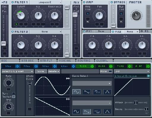 Modulation range & LFO settings
