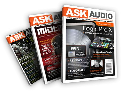 macProVideo library pass holder? Then opt-in to get your FREE quarterly AskAudio Magazine!