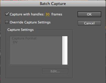 Batch Capture Options