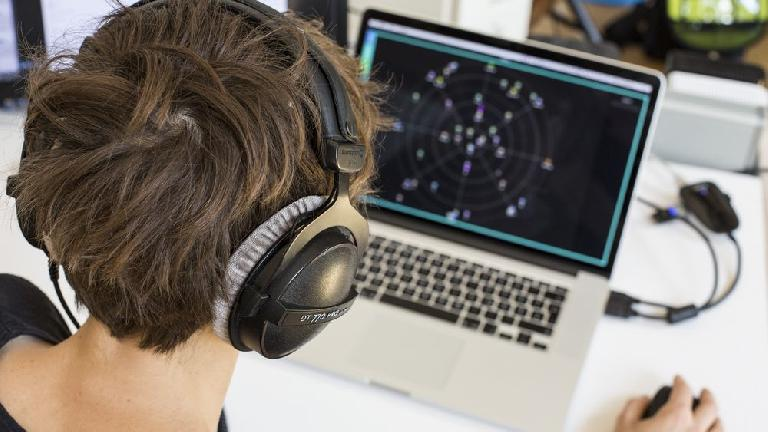 mixing on headphones!