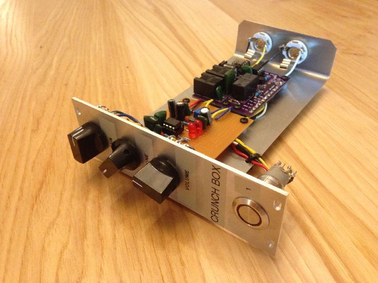 DIY guitar pedal that lives in the Modular Guitar Pedal Rack.