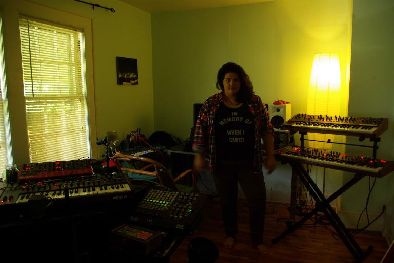 Sara surrounded by synths :)