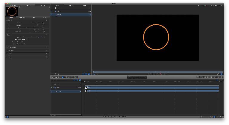 Create a new circle, and make it orange
