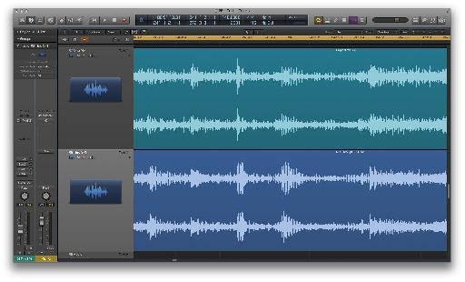 Pic 5: Waveforms (In Logic) Original Mix (Top) vs SP-1 (Bottom).