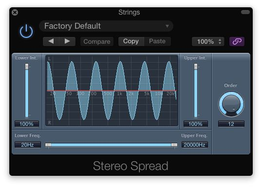 Fig 5 Logic's Stereo Spread plug-in.