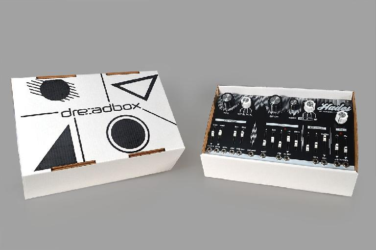 Dreadbox Hades is literally in its box.