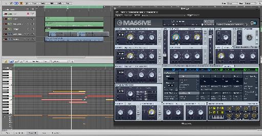 The Massive preset in action.
