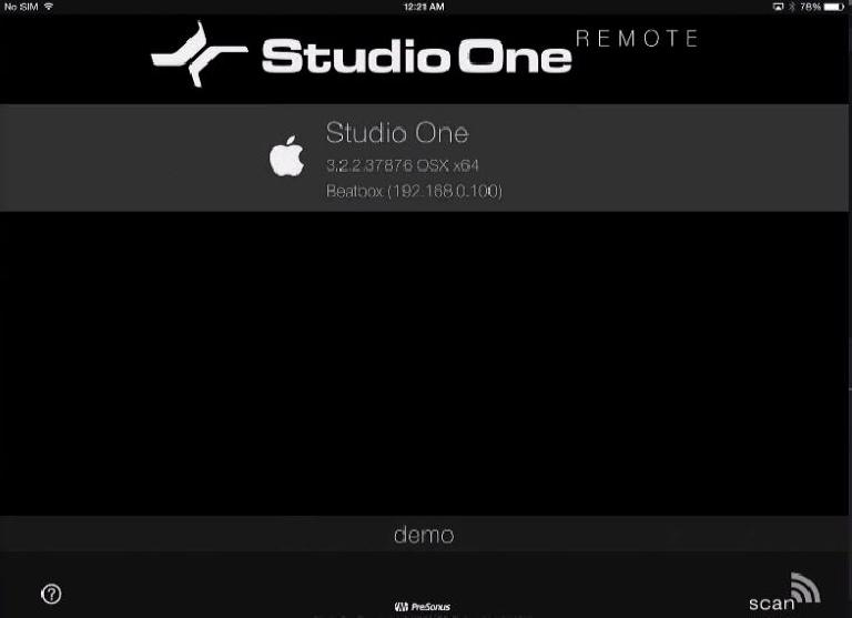 Studio One Remote App Connect