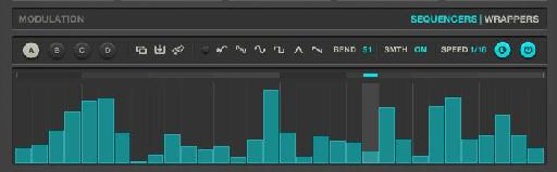 Use pre-defined shapes or your own curves in the Sequencer lane