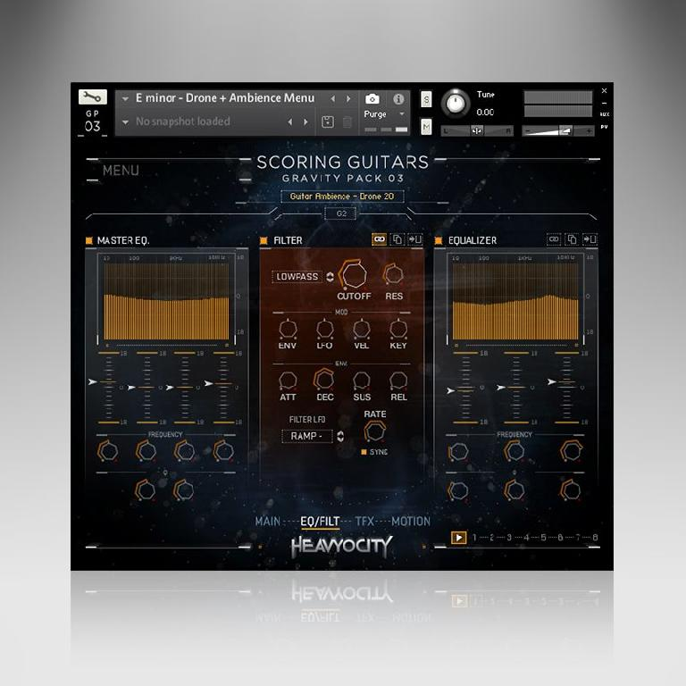 EQ in Heavocity's Scoring Guitars.