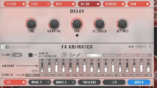 Figure 3 – FX Animator in the Delay Section