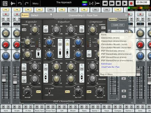 The remarkably fully-featured channel strip in Auria for iPad