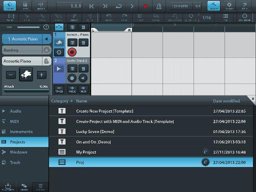 Cubasis is a well-designed app for iPad that contains instruments, effects and audio recording.