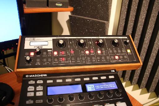 (Pic 1) The Moog fitted nicely into my desktop setup.
