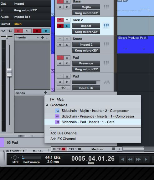 Remember to set the source for the sidechain.