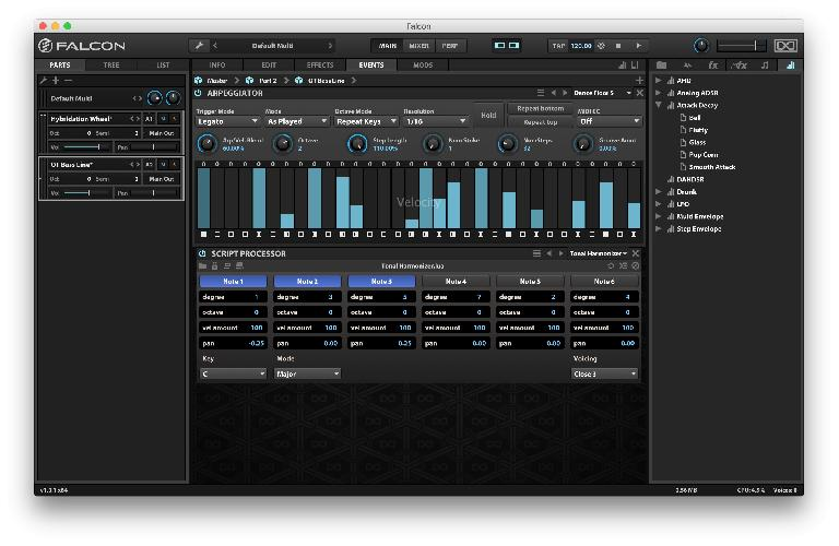 Use all kinds of MIDI generators and manipulators to create more dynamic patches.