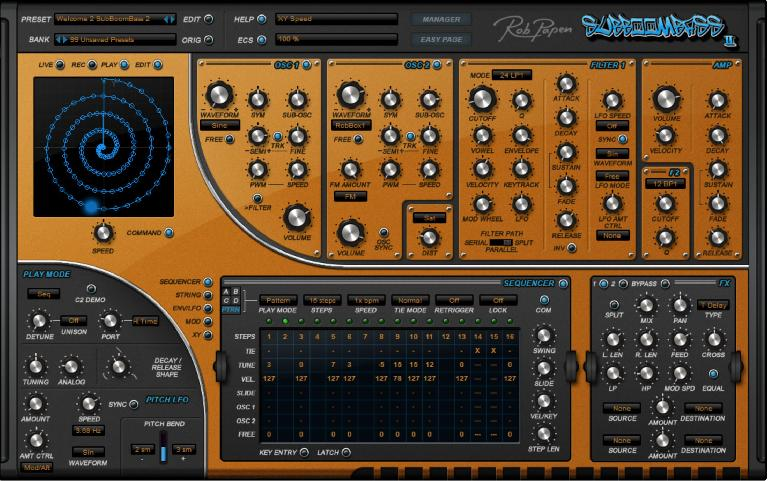 SubBoomBass 2 Modulation sequencer.