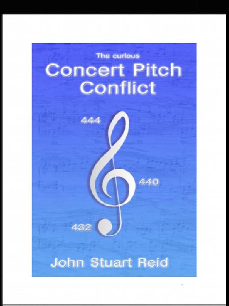 Figure 4 – Cover Page of Reid's Concert Pitch Conflict Article.
