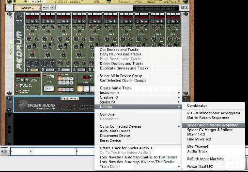 Creating a Spider audio splitter.