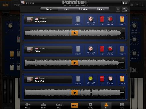 Pic 9 - My tracks on PolyShare