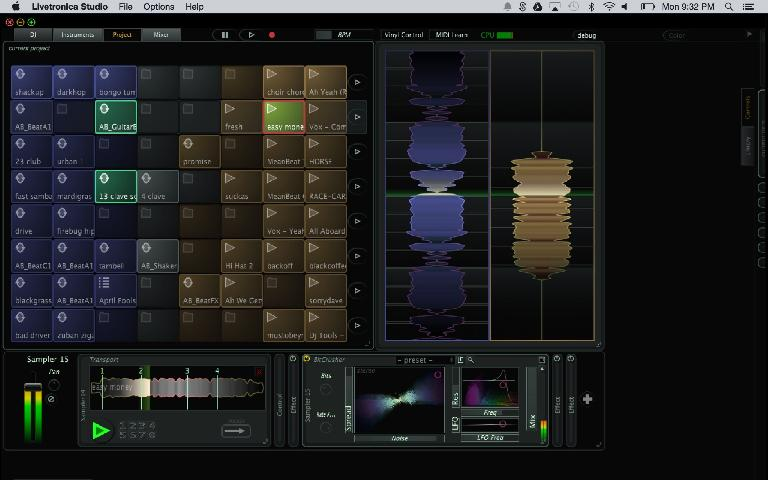 Stagecraft Software's new app for Novation Launchpad Pro (Project View)