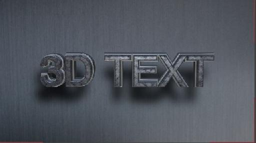 text with shadows