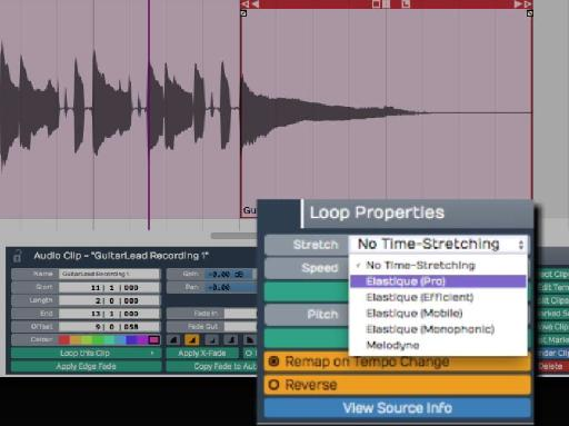 Tracktion 6 now features seamless timestretching tools.