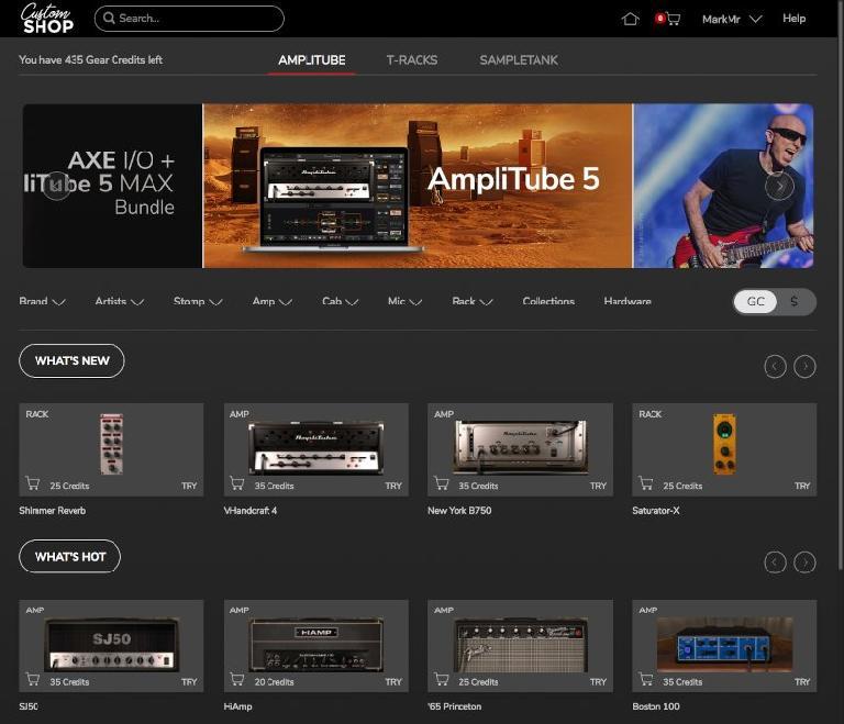 AmpliTube 5 Custom Shop