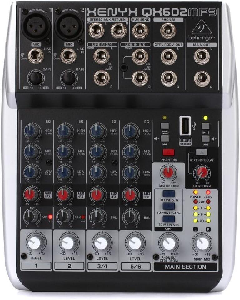 The Behringer QX602MP3 - $100.