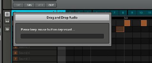 Audio being dropped into a DAW from Maschine