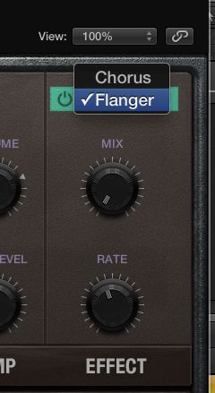 Choose between Chorus and Flanger.