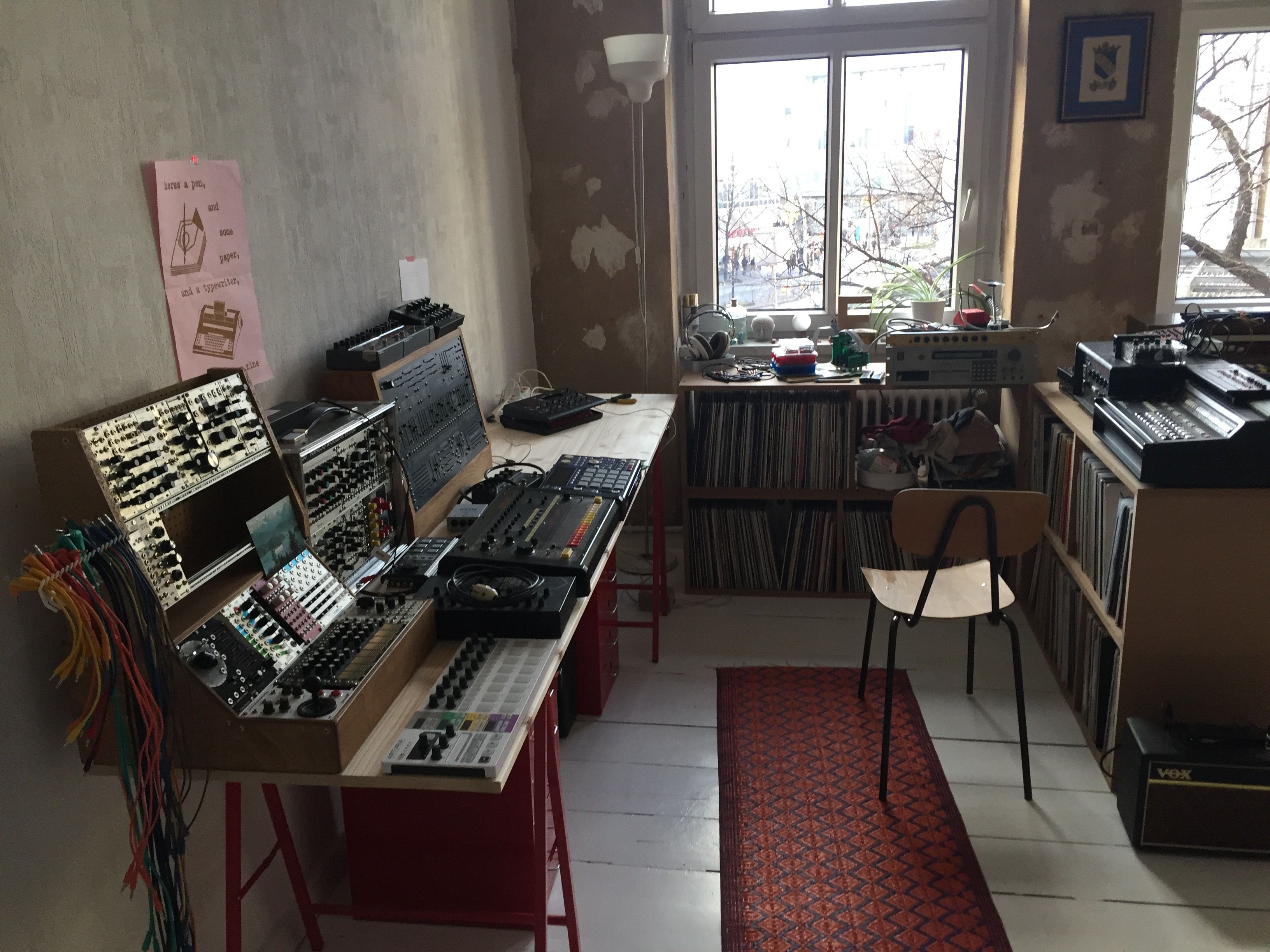 Part of the Mole's considerable gear collection; S900 visible near the window.