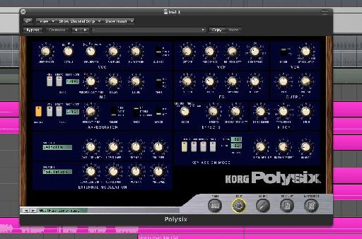 The Korg Polysix used for the bass line