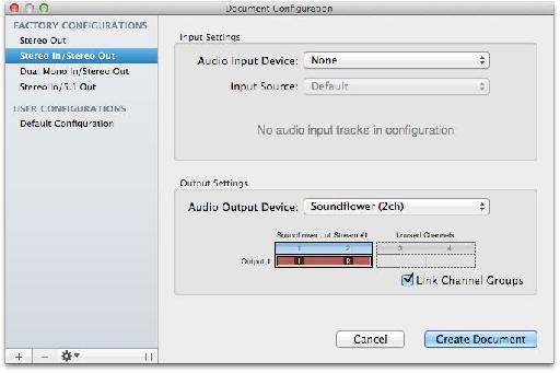 Make sure to set the output to Soundflower (2ch) and not built-in output or your audio interface's outputs.