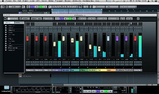 The brand new MixConsole in default view.
