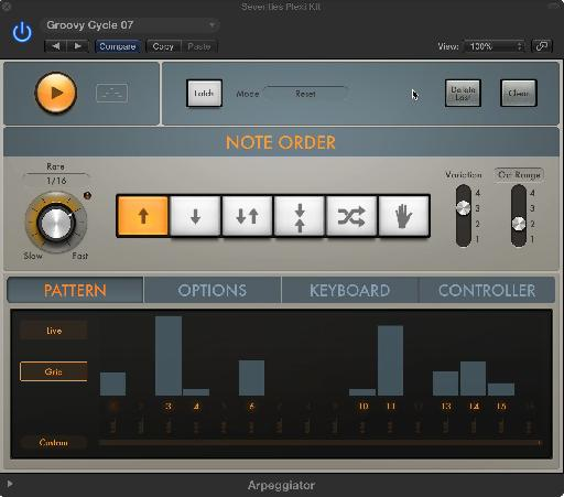 Logic Pro X's new Arpeggiator MIDI FX plugin provides much more flexibility and power than the old Logic arpeggiator.