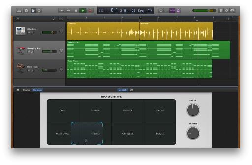The new Transform Pad Smart Control allows for easy and effective morphing of synth sounds.
