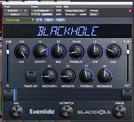 Defy space and time with the Eventide Blackhole plug-in.